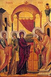 Сретение Господне. Византия, VI век.